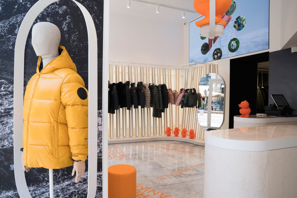Marcel Mauer Save the Duck Store Cordusio Milan. Interiors.